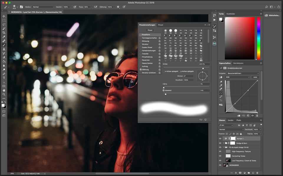 Pinsel lag / Brush lag in Photoshop CC 2018 beheben - Werner