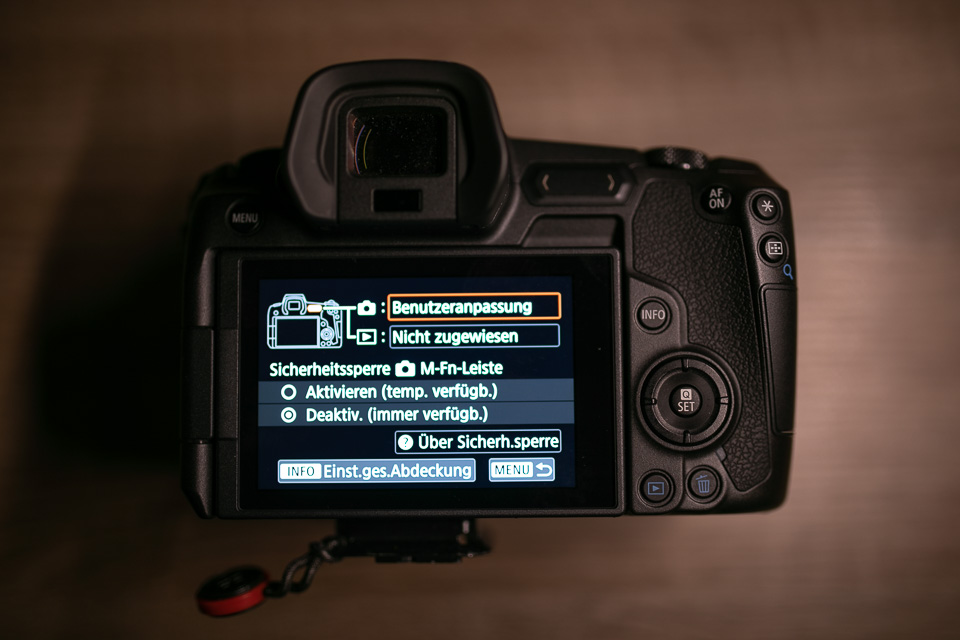 Canon EOS R – Problemlösung Multifunktionsleiste