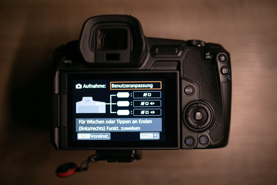 Canon EOS R Multifunktionsleiste