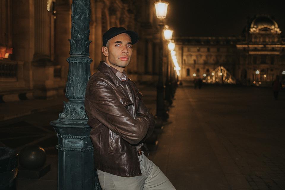Porträt von Dario in Paris